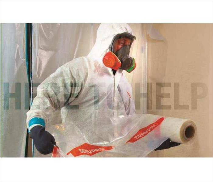 SERVPRO employee performing disinfecting services