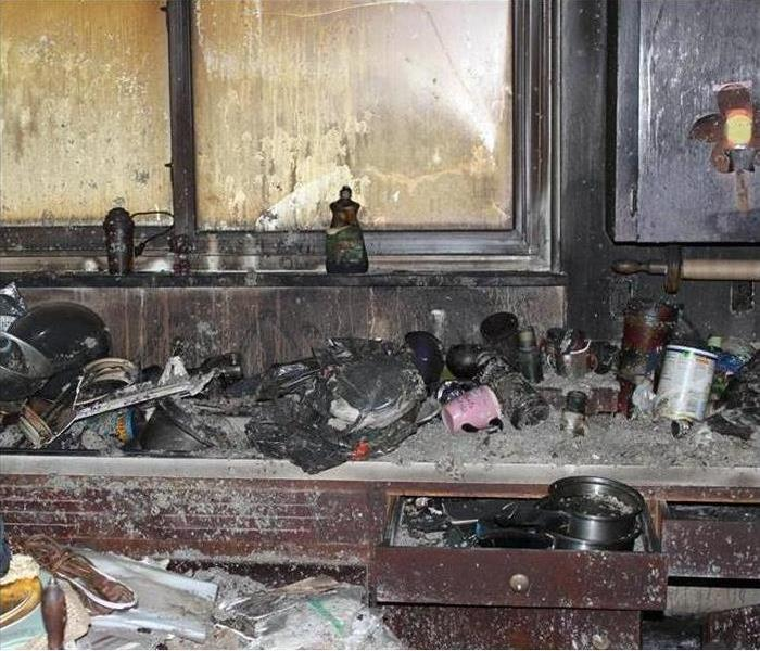 Kitchen after devastating fire