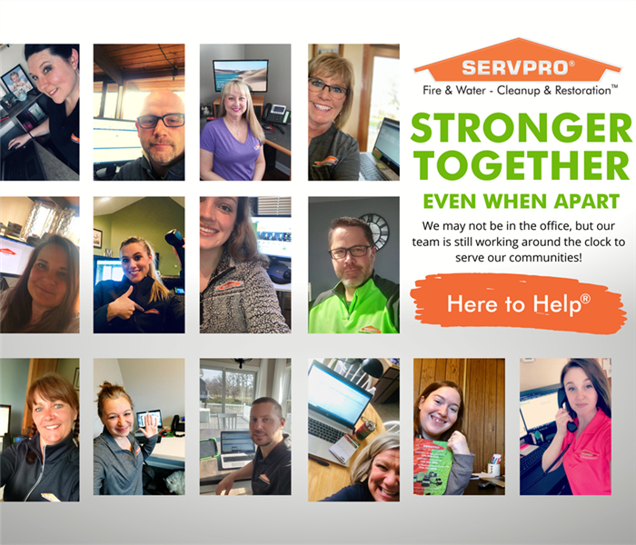 SERVPRO employees working from home collage